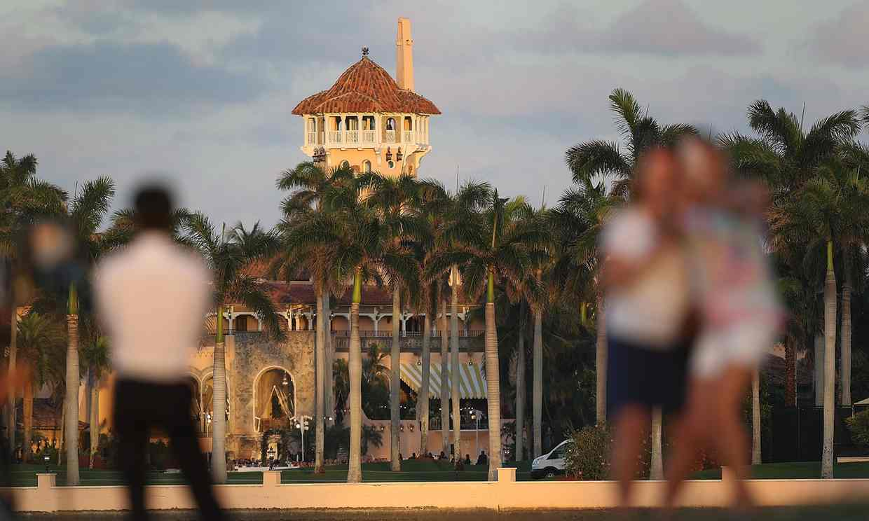 The Mar-a-Lago Resort in West Palm Beach, Florida on 11 February 2017. Photograph: Joe Raedle/Getty Images
